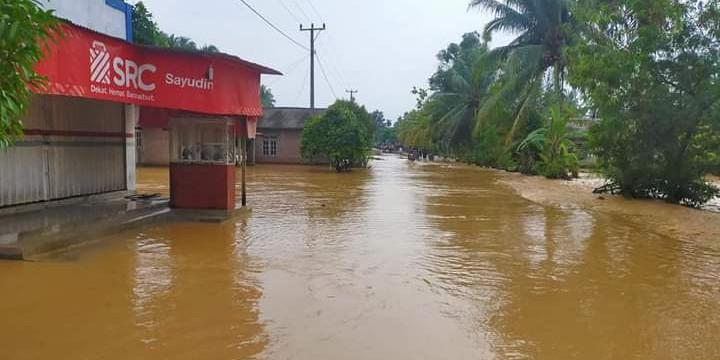 Banjir yang menggenangi rumah warga di Kabupaten Tanggamus, Lampung, (BPBD Kabupaten Tanggamus)