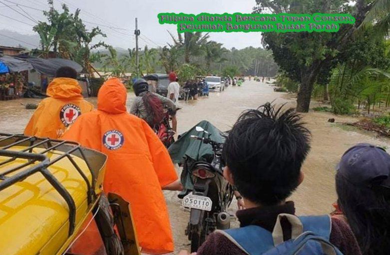 Filipina dilanda Bencana Topan Conson, Sejumlah Bangunan Rusak Parah