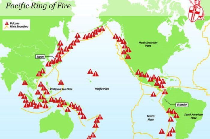 Hampir Seluruh Wilayah di Indonesia Dikelilingi oleh Cincin Api Pasifik