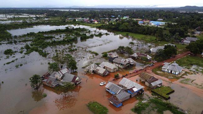 Ilustrasi banjir di pemukiman