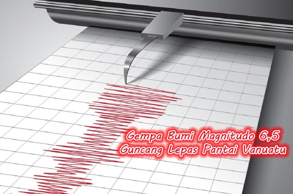 Gempa Bumi Magnitudo 6,5 Guncang Lepas Pantai Vanuatu